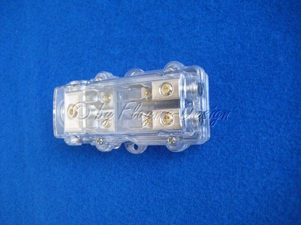 Glasrohr Sicherungshalter 1x25 auf 2x10qmm RCS