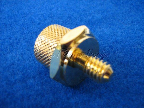 Batteriepolschraube vergoldet gerändelt PS-1