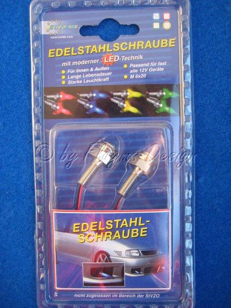 EDELSTAHLSCHRAUBE M LED