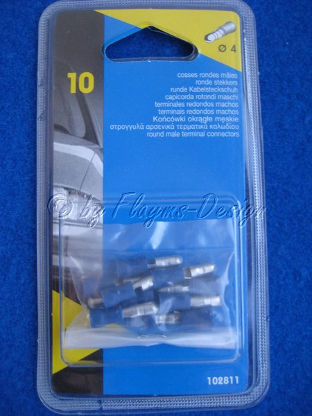 Rundstecker BLAU 102811