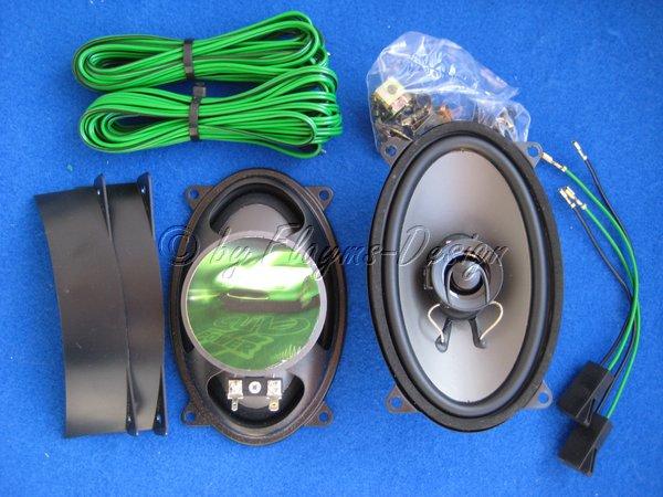Einbau - Lautsprechersatz DIN 9x15 Universal 2-WEGE AIV