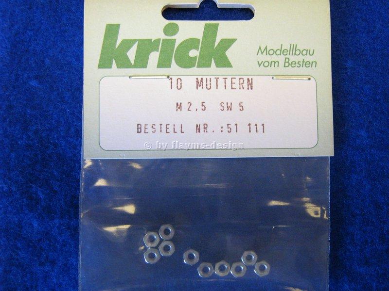 SECHSKANTMUTTER M2,5 Schlüsselweite 5mm