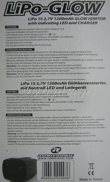 Anleitung für Glühkerzenakku Lipo mit Lader
