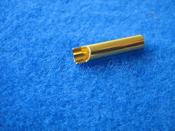 GOLDBUCHSEN 4mm Anschluss Stecker zum anlöten EAN 4005697040441