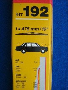 """WISCHBLATT 1x475mm / 19\\\"""" Audi A3, Seat Skoda SWF 117192 *Restposten"""