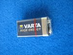 9V Block Batterie Alkaline High Energy V4922 VARTA E-Block 6LR61 580mAh